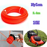New Nylon String Trimmer Rope Line Trimmer Line .095 for Petrol Strimmers Machine Tools 2.4mmx10m