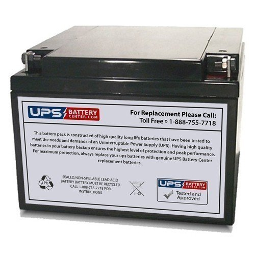 GP12260-NB2 12 Volt 28 Ah SLA Replacement Battery w/ NB Terminal