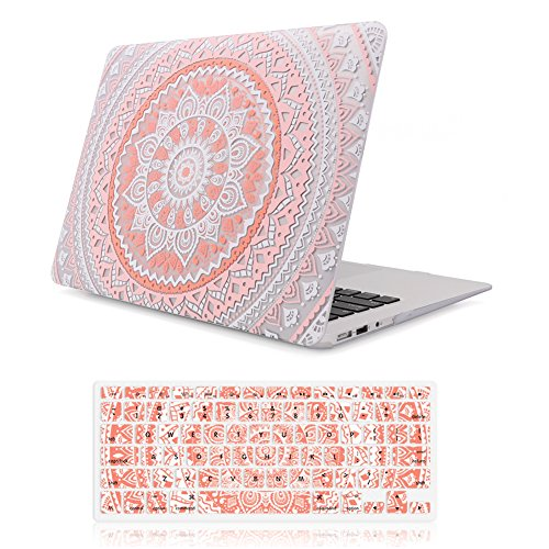 iCasso Protective Keyboard Cover Pink Medallion