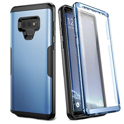 YOUMAKER Case for Galaxy Note 9, Full Body Heavy Duty Protection with Built-in Screen Protector Shockproof Rugged Cover for Samsung Galaxy Note 9 (2018) 6.4 Inch - Blue/Black