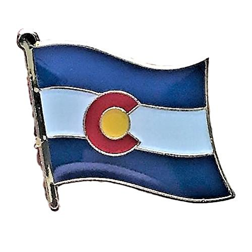 Backwoods Barnaby Colorado Flag State Lapel Pin (CO, 0.75
