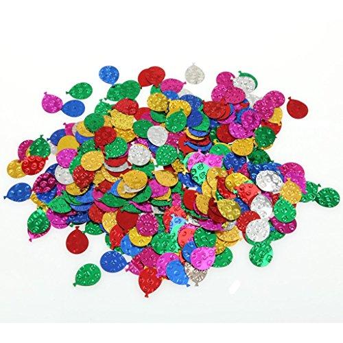 MagiDeal Multicolor Sparkle Balloon Confetti for Wedding Par