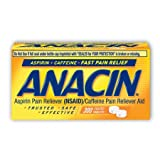 Anacin Fast Pain Relief Pain Reducer Aspirin Tablets, 300 Tabs (Pack of 5)