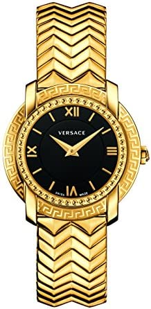 Versace Women's 'DV-25' Swiss Quartz Stainless Steel Casual Watch, Color:Gold-Toned (Model: VAM050016)