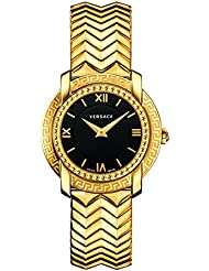 Versace Womens DV-25 Swiss Quartz Stainless Steel Casual Watch, Color:Gold-Toned (Model: VAM050016)