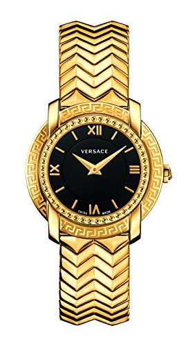 Versace Women's 'DV-25' Swiss Quartz Stainless Steel Casual Watch, Color:Gold-Toned (Model: ()