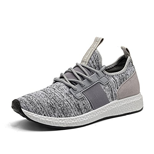 TIOSEBON+Mens+Breathable+Casual+Sneaker+Athletic+Running+Shoes+Lightweight+Workout+Walking+Shoes+7+US+Light+Gray
