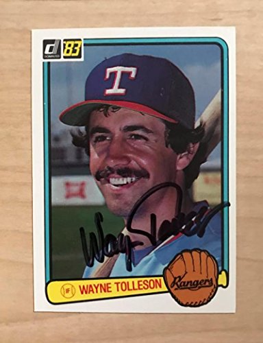 WAYNE TOLLESON TEXAS RANGERS SIGNED AUTOGRAPHED 1983 DONRUSS CARD #573 W/COA