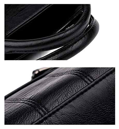 Sac D'épaule Mode De Tempérament Femmes Black Main Paquet De La Diagonale De à Cousant De 4TqPIwEwx