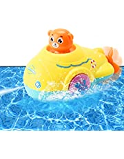 Tokey Life Baby Bath Toys Games Water Pool Bathtub Toy for Toddlers Kids Infant Girls and Boys Age 2 3 4 5 6 7 Years Old Fun Bath Time Bathroom Tub Wind Up Swimming Whales Toys