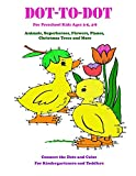 Dot-to-Dot for Preschool Kids Ages 3-5,4-8 Animals, Superheroes, Flowers, Planes, Christmas Trees