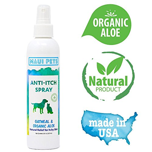 Natural Anti Itch Spray for Dogs & Cats | Organic Aloe & Oatmeal | Instant Soothing Relief for Dry & Itchy Skin | Perfect for Hotspots,Rashes & Allergies | 100% Hypoallergenic - Sensitive Skin Formula