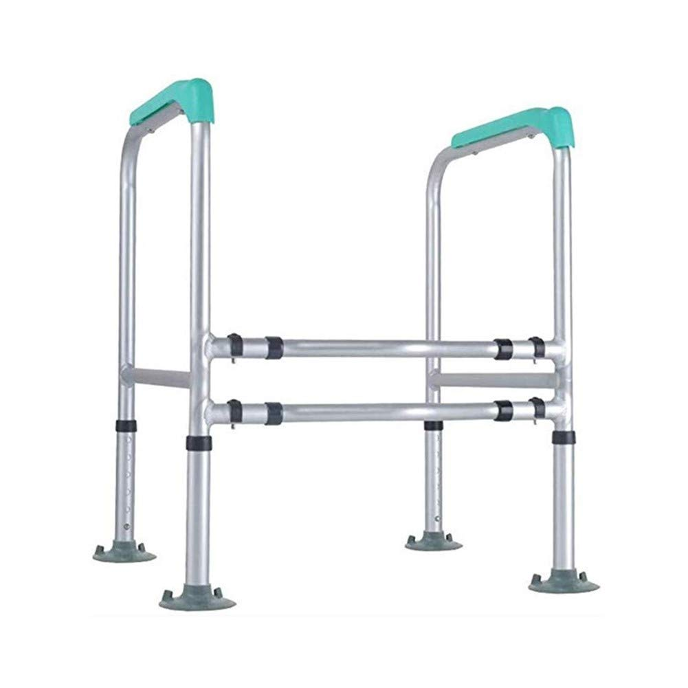JJZXPJ Toilet Safety Rails,Safety Frame for Toilet Height Adjustable Stand Alone Toilet Seat Riser Bathroom Safety Assist Frame for Elderly, Senior,Handicap,Disabled by JJZXPJ