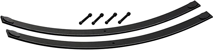 "Fits 1994-2001 Dodge Ram 1500 2/"" Add-a-Leaf Short Helper Springs Kit with Shims"