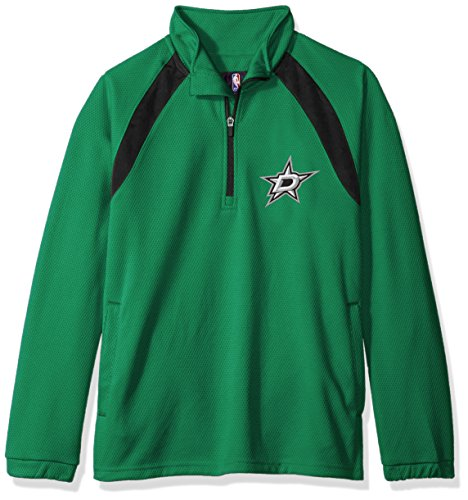 G-III Sports NHL Dallas Stars Adult Men High Impact Half Zip Pullover, Large, Green
