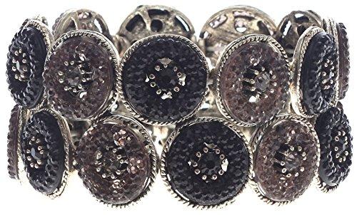 Lova Jewelry A Crystal Black Bracelet. (Jet Stretch Bracelet)