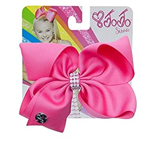 The Official Jojo Siwa Signature Collection Small Keeper Hair Bow with Rhinestones - Magenta