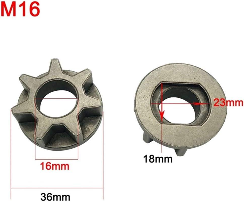 FJJ-JU, M10 M14 M16 Piñón sierra de la cadena del engranaje por 100 115 125 150 180 Ángulo Grinder de sustitución de herramienta de alimentación del soporte de la motosierra Gear ( Color : M16 )