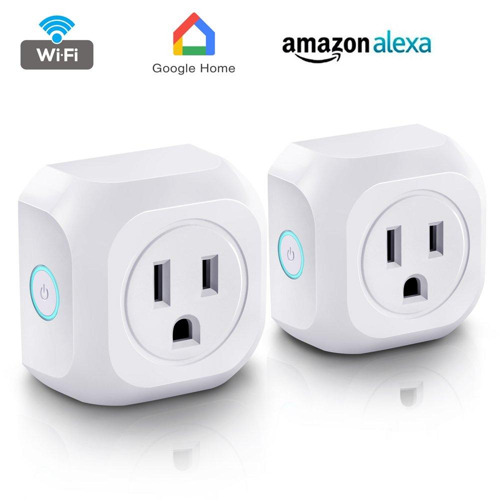 Smart Plug Wifi Mini Outlet Works with Amazon Alexa Echo & Google ...