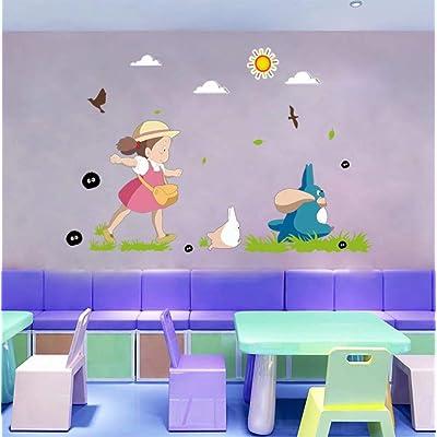 "Japanese Kawaii Totoro Wall Art Sticker Adorable Baby Nursery Decor Wallpaper Decal Mural D248S 23.62x35.43"": Baby"