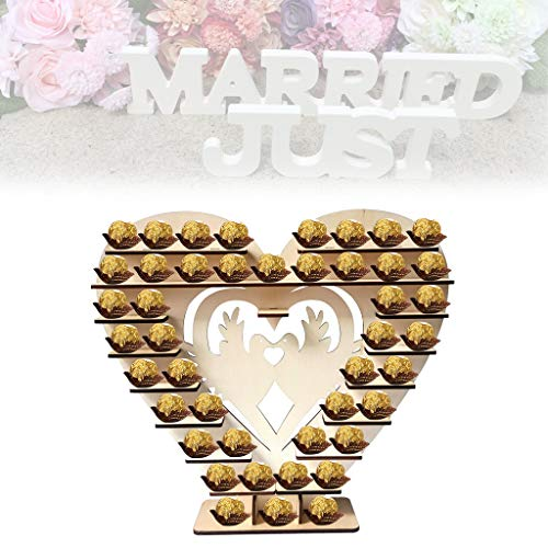 OrchidAmor Chocolate Stand Candy Bar Mr& Mrs Heart
