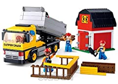 Sluban Dumper Truck M38-B0552 - 384 Pieces Enter the exciting world of Sluban Canada Building Blocks with the Dumper truck 384 Pieces. Part of the Construction range of Sluban blocks, the Truck comes with mini figures and will provide hours o...