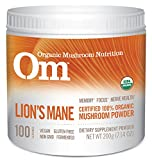 Om Organic Mushroom Nutrition Lion's Mane: Memory, Focus, Nerve Health, 100 servings, 7.14 Ounce, 200 grams For Sale