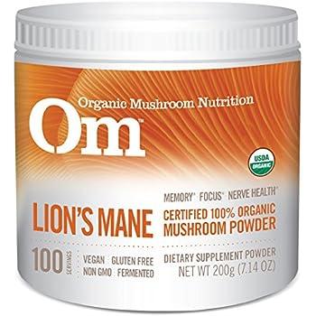 Om Organic Mushroom Supplement, Lion's Mane, 200 grams