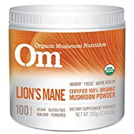 Om Organic Mushroom Supplement, Lion's Mane, 200 grams