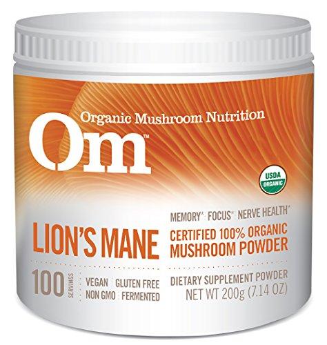 Om Organic Mushroom Nutrition Lion's Mane,7.14 Ounce