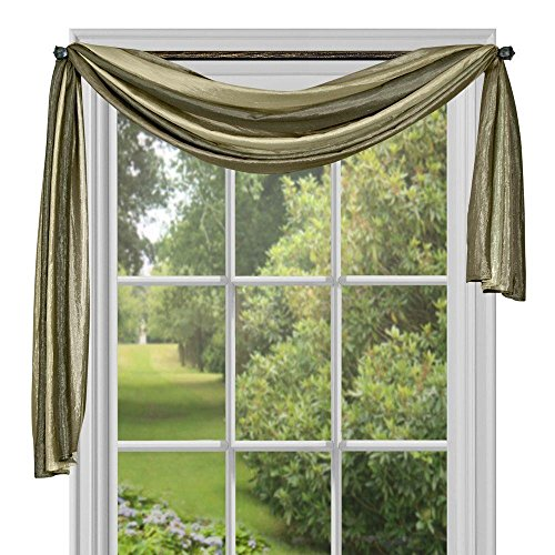Achim Home Furnishings Ombre h Scarf, 50-Inch by 144-Inch, Sage (Stripe Scarf Valance)