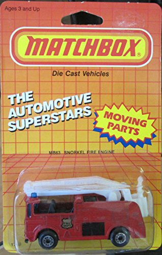Matchbox 1987 Automotive Superstars Snorkel Fire Engine MB 63 Moving Parts! ()