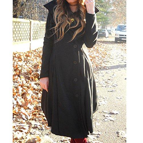 Chaqueta Abrigo Invierno grueso Largo irregular Outwear Negro Warm lana Internet Coat mujer de de parka Abrigo Slim wqpxYp