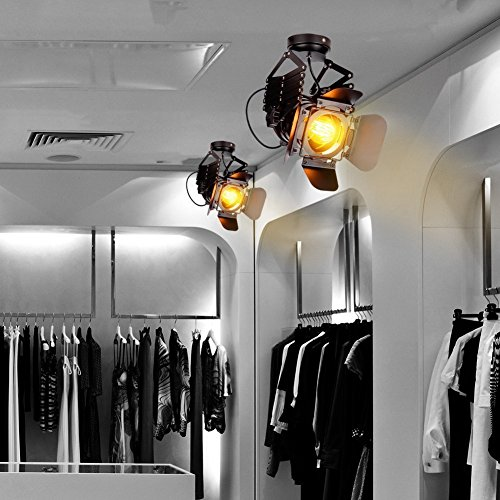 EuSolis Telescopic Loft Industrial Iron Spotlight Vintage Ceiling Lights LED Shop Light Track Light Nordic Pendant Light Wall Lights Spotlight for Bar Cafe Shop by EuSolis (Image #6)