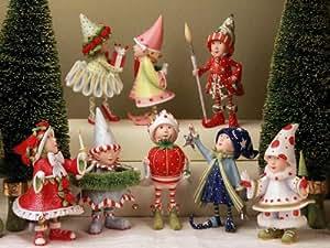 Patience Brewster Krinkles Dash Away Elf Set Of 8