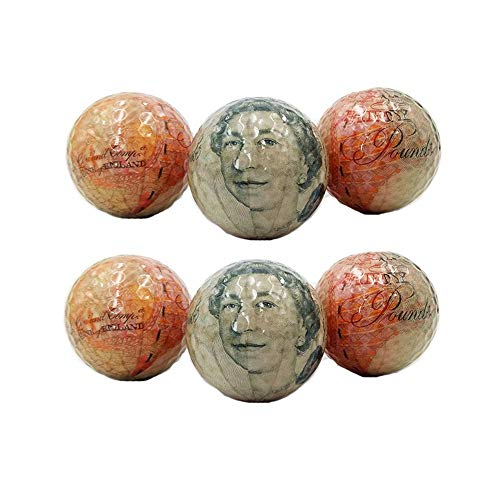 - Sviper-sport Golf Balls Set Wen Personality Golf Balls Gift Double-Layer Golf Banknote Printing Pattern Golf Color Transparent Crystal Ball for Snow Stadium (Color : C2, Size : Diameter 42.6mm)