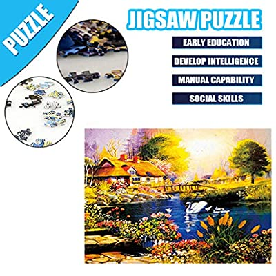 Jigsaw Puzzle for Adults 500 Piece Large Puzzle, Vintage Paintings Landscape Jigsaw Puzzle 50 x 40 cm (B): Office Products