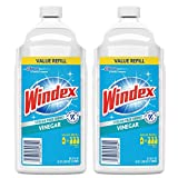Windex Vinegar Glass Cleaner Refill, 2 Liter (Pack of 2)