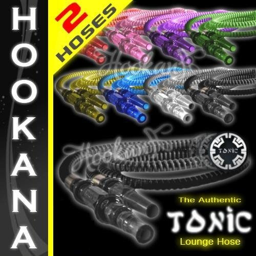 2 Tonic Hookah Shisha Washable Hoses - Any 2 Colors