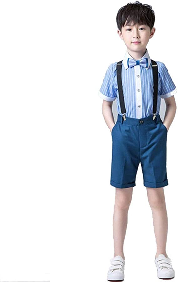 pantalones cortos de gentleman suit trajes cortos bautizo fiesta bodas traje 1 Conjunto de ropa para beb/é de manga corta 6 a/ños ni/ños verano ropa Set