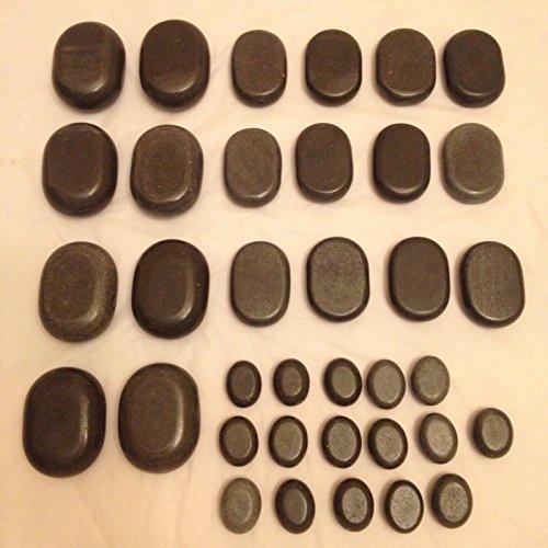 Professional Basalt Lava Hot Stone Massage Loose Kit of 36 Pcs
