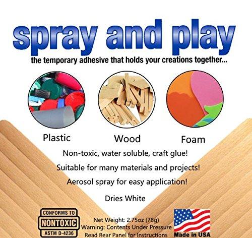 Spray and Play Temporary Adhesive
