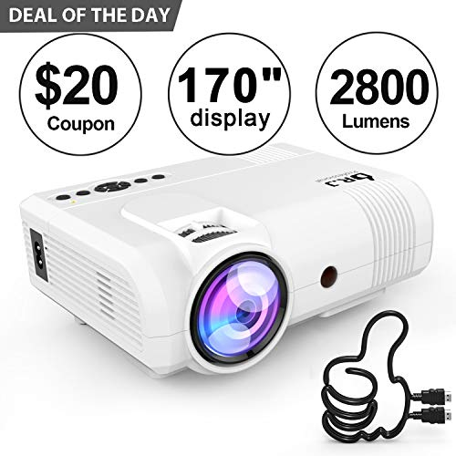 New DR. J Professional 2800 Brightness Video Projector 1080P Full HD Supported Mini Projector, TV St...