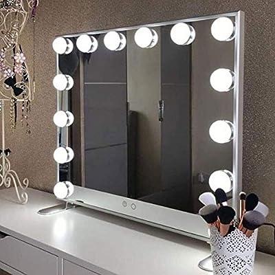 WONSTART Hollywood Espejo Maquillaje con luz,Espejo de Maquillaje ...