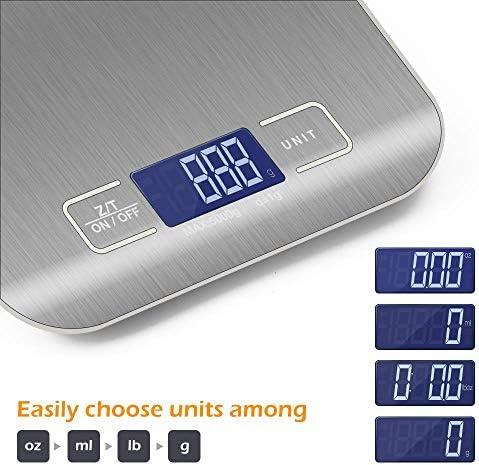 Bilancia da cucina Bilancia da cucina elettronica strumento di misurazione bilancia alimentare bilancia dietetica LCD ultrasottile famiglia di bilance elettroniche digitali