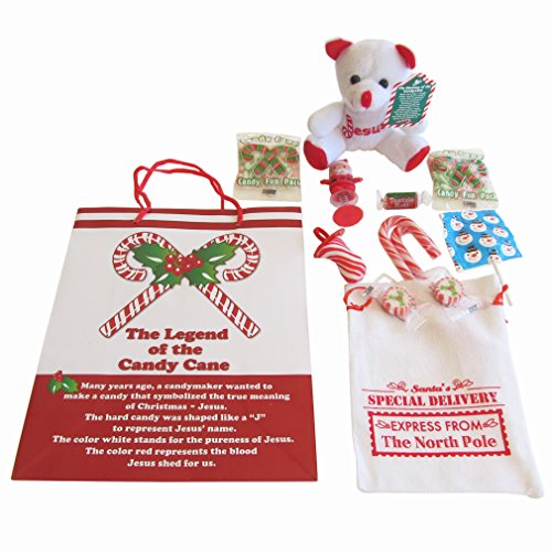 Christmas Gift Set The Legend of the Candy Cane Theme - 13 Piece Gift Bundle