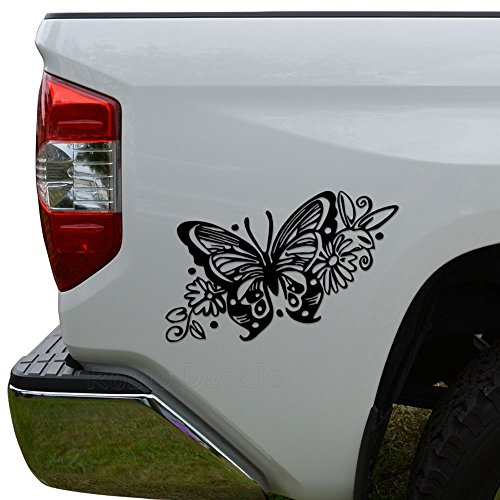 Rosie Decals Butterfly Tribal Art Die Cut Vinyl Decal Sticker for Car Truck Motorcycle Window Bumper Wall Decor Size- [6 inch/15 cm] Wide Color- Gloss - Tribal Butterfly Sticker