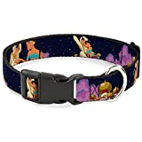 Disney Plastic Clip Collar - Aladdin & Jasmine Magic Carpet Ride Scenes - Large Pet Collar 1.0