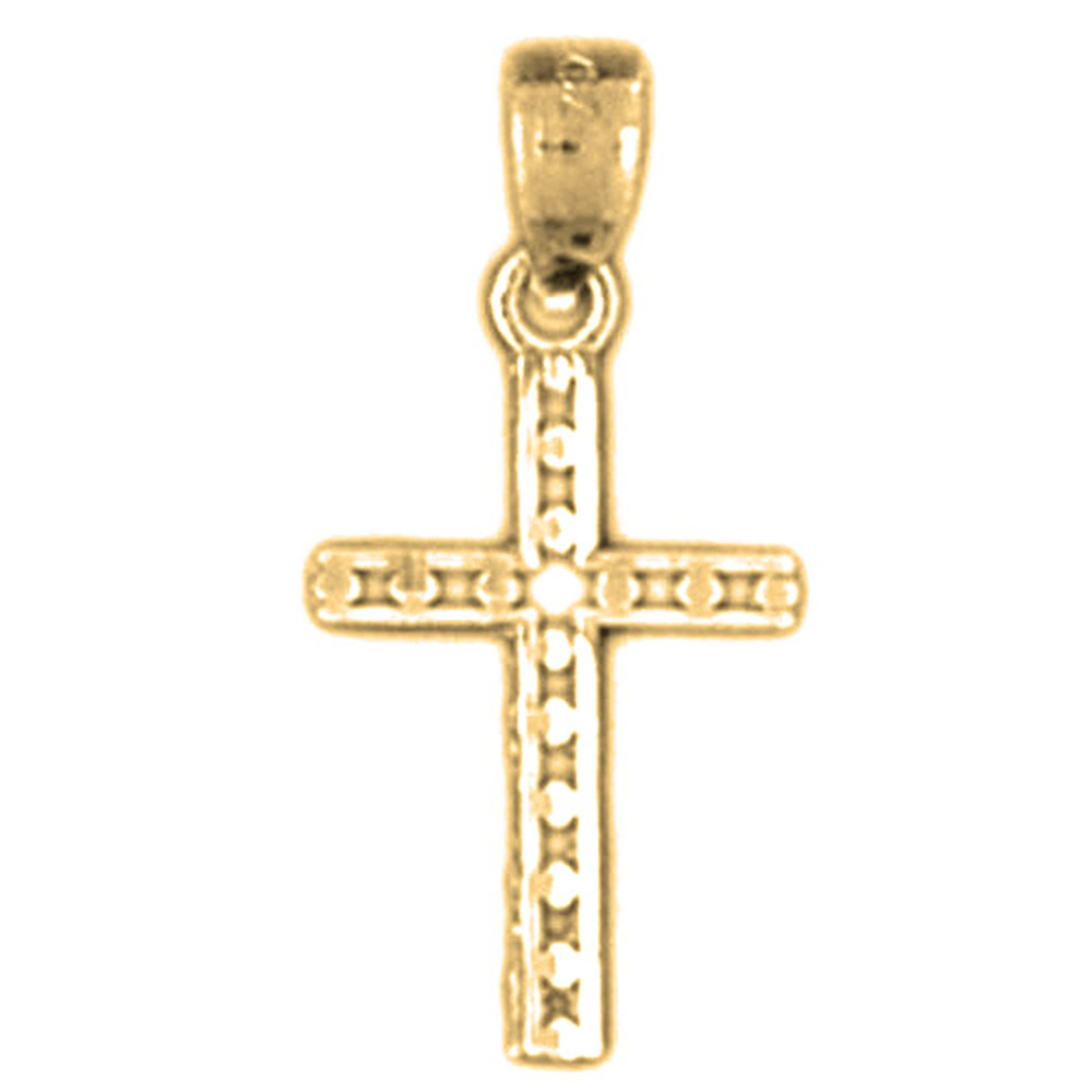 14K Yellow Gold-plated 925 Silver Corpus Jesus Pendant with 18 Necklace Jewels Obsession Crucifix Necklace