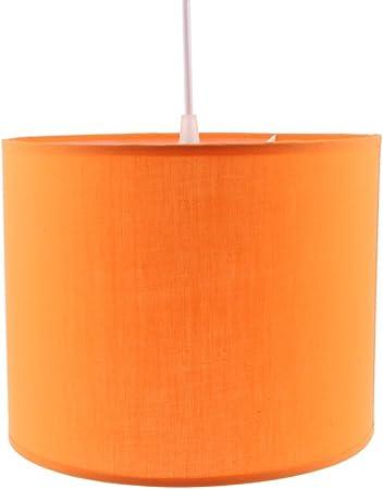 LOVIVER Lámpara Cilíndrica De La Lámpara De La Sombra Pantalla De La Sombra Pantalla del Techo Iluminación del Hogar - Naranja: Amazon.es: Hogar